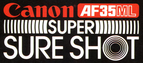 Canon AF35ML Super Sure Shot Logo