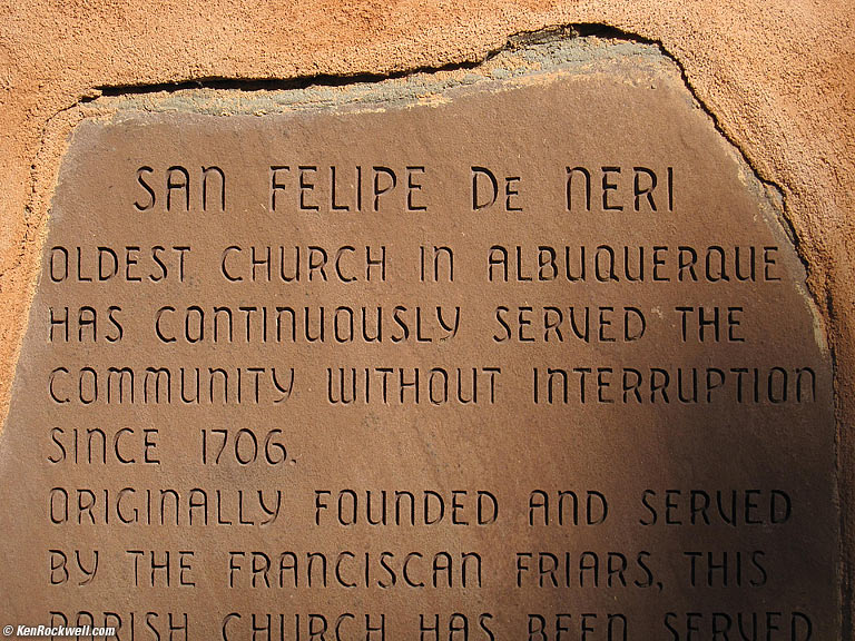 San Francisico de Neri Church placque